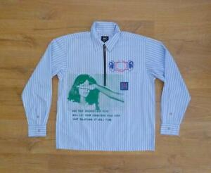 NWOT BRAIN DEAD HALF ZIP LONG SLEEVE SHIRT MADE IN PORTUGAL RRP £150.00 SOLD OUT