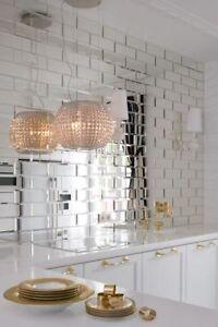 Spiegelfliesen mit Facette MIRROR TILES 17,17m17 FACETTIERT ...