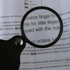 Mini Pocket Black Folding Magnifing 10X 50mm Jewelry Glass Magnifier Loupe Best