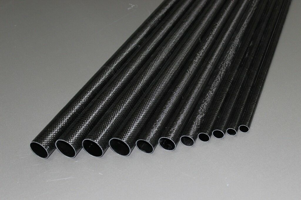 NEW Carbon tailboom   carbon tail tube tapered 12mm-9mm- 550mm, length 21.65