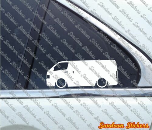 for Toyota HiAce H200 Van 2004- Lowered car outline stickers