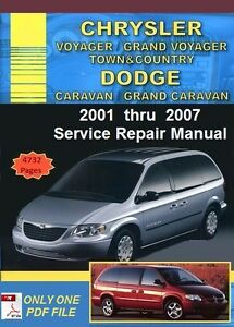 Dodge caravan workshop manual pdf