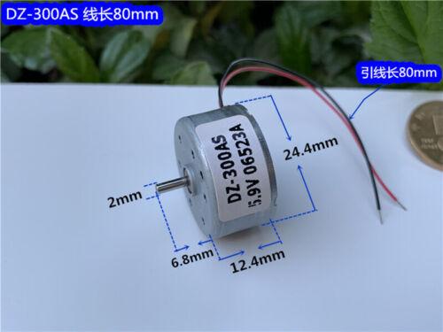 Sankyo 300 Solar Power Motor DC 1.5V 3.7V 6V Micro Round Spindle Motor Low Noise