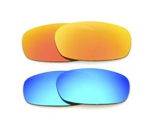 15869daf17 NEW POLARIZED CUSTOM FIRE BLUE LENS FOR OAKLEY SQUARE WIRE 2.0 ...