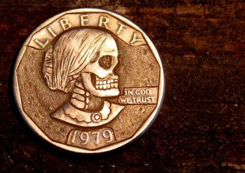 Coalburn classic Hobo Nickel engraved  OHNS Susan B Anthony 1979 buffalo skull