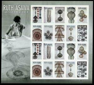 2020 Ruth Asawa Artist US Forever Stamps Scott 5504-5513 Panes of 20 MNH