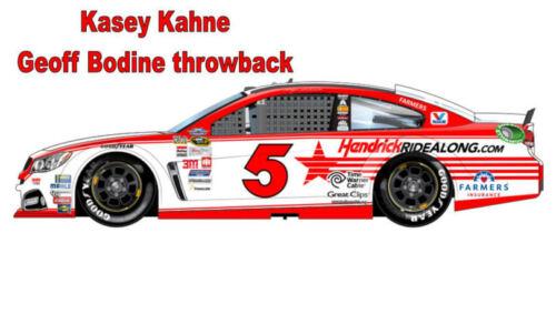 CD/_2229 #5 Kasey Kahne Geoff Bodine Throwback Chevy  1:64 scale DECALS