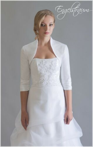 40 38 36 Brautjacke Bolero Taft Hochzeit WEISS CREME Gr E208 42 NEU