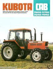 Farm Tractor Brochure Kubota M5950 M6950 M7950 M8950 Cab 1989 Fb592