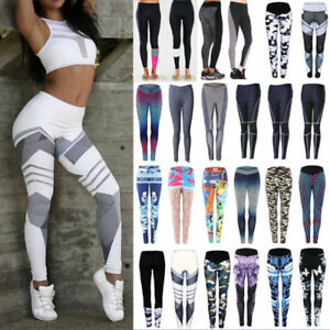 a8a3d75ce6e49 Women Yoga Pants Ladies Fitness Leggings Run Gym Exercise Sports ...