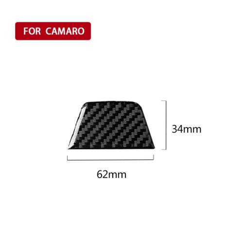 Carbon Fiber Steering Wheel Panel Sticker Trim  For Chevrolet Camaro 2017-2019