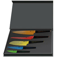 Professional Kitchen Knife Cutlery Set 5pc Stainless Steel Ceramic Coat Gift Box