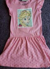 Eiskönigin Frozen Sommer Kleid Wendepailletten Rosa Elsa Anna 122 NEU
