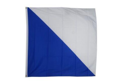 Suisse Canton de Zurich Hissflagge Zürcher drapeaux drapeaux 120x120cm