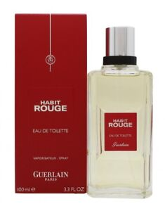 GUERLAIN-HABIT-ROUGE-EAU-DE-TOILETTE-EDT-100ML-SPRAY-MEN-039-S-FOR-HIM-NEW