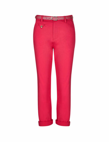 Ex M/&S Ladies Roma Rise Cropped Cotton Chinos Per Una Size 8-24 Marks Spencer UK