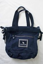 Rare Retired Abercrombie & Fitch Navy Blue Heavy Canvas Tote Work School Bag