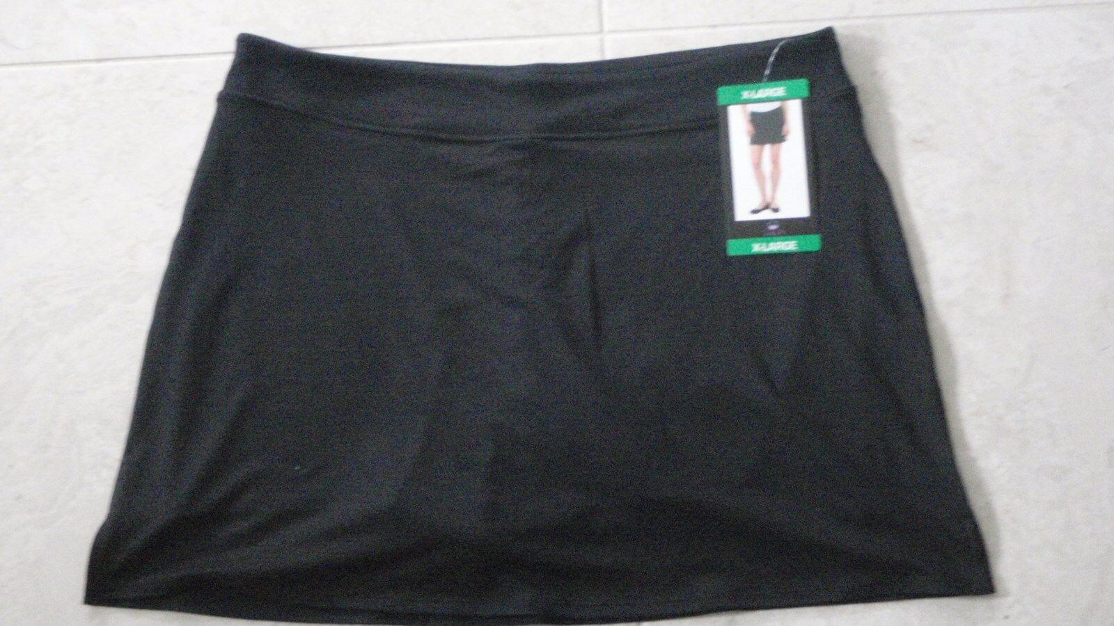 TRANQUILITY COLORADO CLOTHING YOGA GOLF SKORT SKIRT SOLID BLACK XL, EXTRA LARGE