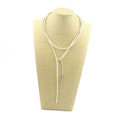 New Leather Choker Charm Necklace Vintage Hippy Chocker Retro Leather Cord UK