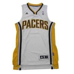 huge selection of 5a8ce cf8b0 Details about New Adidas NBA Indiana Pacers Classic Swingman Basketball  Jersey White Large