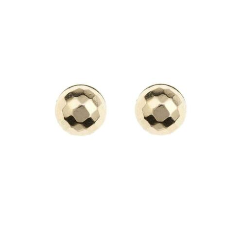 9ct Gold Ball Stud Earrings 5mm Yellow Gold Butterfly Ball Stud 1 X PAIR