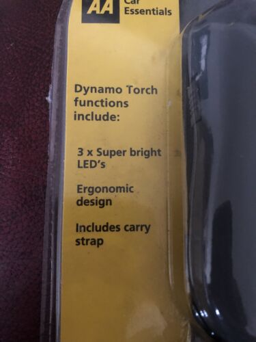 AA ESSENTIALS AA DYNAMO TORCH 3X SUPER BRIGHT LEDS INCLUDES CARRY STRAP