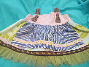 4-6 So Sweet Puppy Dog Ribbon /& Tulle Trim VGUC Matilda Jane Knot Top: Floral