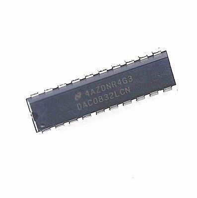 2 PCS NEW DAC0832LCN DAC0832 0832 DIP-20 8-BIT D/A CONVERTER IC   eBay