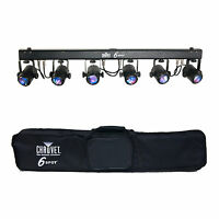 Chauvet Dj 6spot Tri Color Led Stage Spot Light System + Transport Case on sale