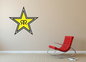 Rockstar Energy Drinks Wall Logo Vinyl Decal Wall Decal Home Room