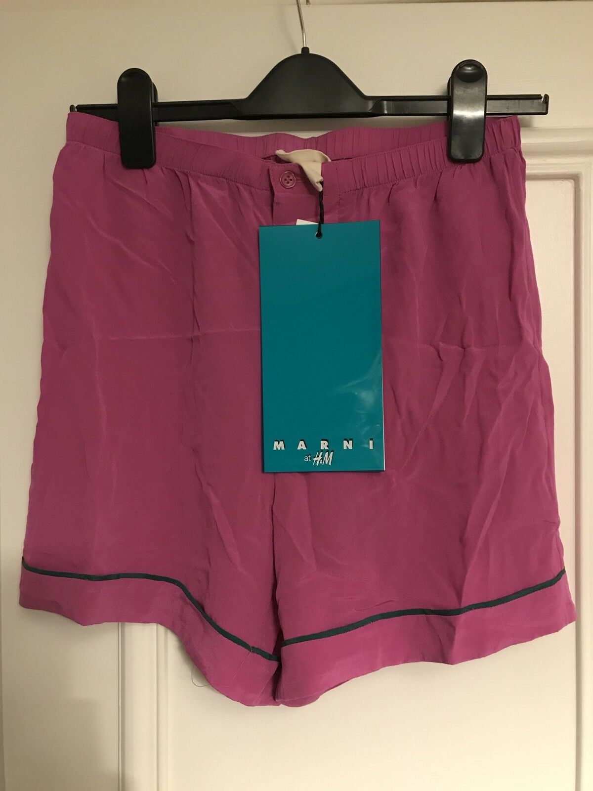 Marni H&M Limited Edition Pink Silk Shorts Size 10   BNWT NEW