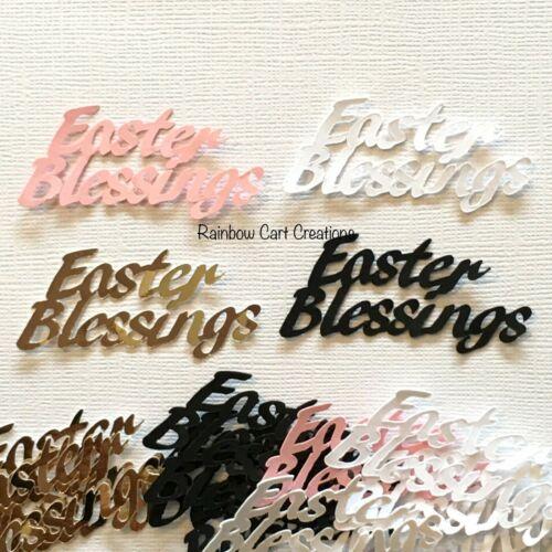 Easter Blessings Sentiment #1 Title Die Cuts Embellishments Pre-Cut 10-40pcs.