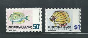 Christmas Island Scott # 32-33 Mvlh Poisson-afficher Le Titre D'origine