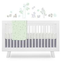 Babyletto Tranquil Woods 4 Pc Crib Sheet & Skirt, Blanket & Wall Decals
