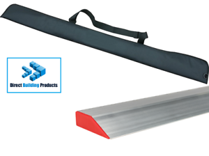 6ft Plasterers Feather Edge Heavy Duty Aluminium /& Free Padded Case