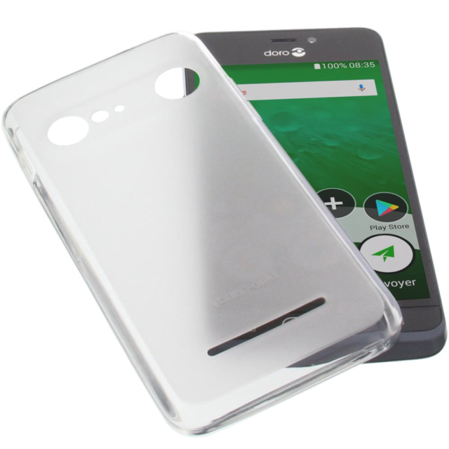 new style a5984 23d44 Protective Case for Doro 8035 Rubber TPU Mobile Phone Cover Transparent  White