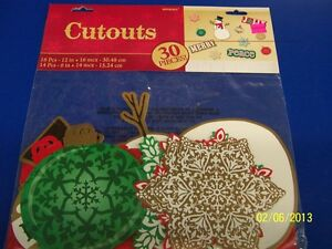 Snowman-Snowflake-Ornament-Christmas-Holiday-Party-Value-Pack-Cutout-Decorations