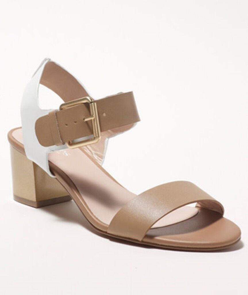 Charles by Charles David Gisele Camel White Leather Dress Sandal