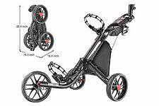 CaddyTek EZ-Fold Golf Push Cart V2, Dark Grey