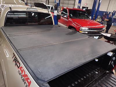 16 17 18 Tacoma Oem Tonneau Cover 3 Piece Foldable Black Hard Texture 6 1 Bed Ebay