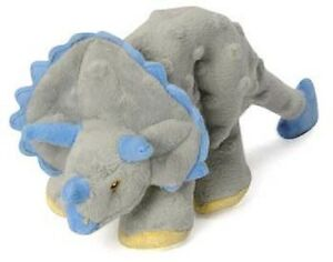Sherpa-Go-Dog-Squeaker-FRILLS-GREY-TRICERATOPS-DINOSAUR-w-Chew-Guard-DOG-TOY