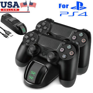 For-PS4-PlayStation4-Controller-Dual-USB-Charger-LED-Dock-Station-Charging-Stand