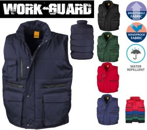 WORKGUARD-Padded-Insulated-BODYWARMER-Gilet-Windproof-Water-Repellent-S-to-3XL