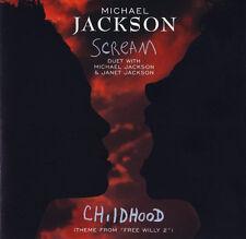 MICHAEL JACKSON  Scream  2 track CD Single  1995 Epic  JANET JACKSON
