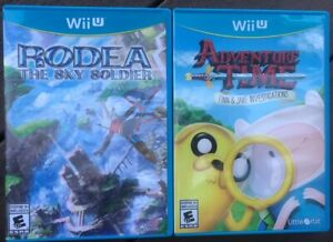 Wii-U-2-Games-Set-Rodea-The-Sky-Soldier-amp-Adventure-Time-Finn-Jake-PRE-OWNED