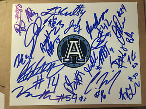 Toronto-Argonauts-SIGNED-2019-CFL-FOOTBALL-8x10-TEAM-photo-SEE-LIST