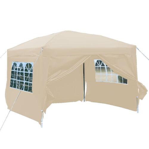 Tente de reception 3×3m tonnelle chapiteau fenêtres cotés démontables 4 couleurs