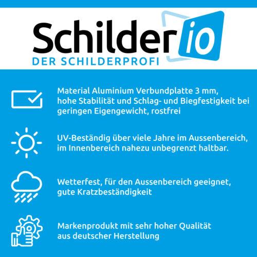 """Hinweisschild 450x300 mm /""""Parken verboten!/"""" Aluminiumverbundplatte 3mm"""