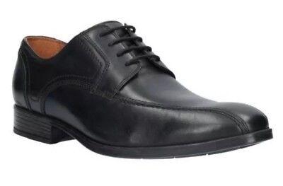 100% Vero Nuovo ???? Clarks ???? Taglia 6 Scarpe Da Uomo Kalden Vibe Smart Nero In Pelle Stringati Ue (39.5)-ize 6 Mens Shoes Kalden Vibe Black Smart Leather Lace Up (39.5 Eu) It-it Delizioso Nel Gusto