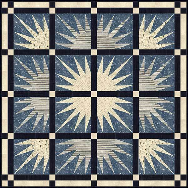 Quilt Pattern ~ TAILWIND ~ by Janet Clare